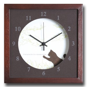 Smallish Northern Europe taste Interior Clock Clock/Watch Cat