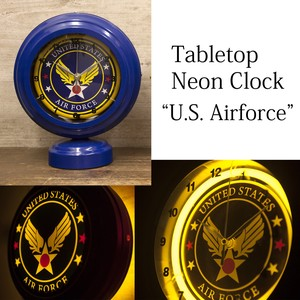Table Clock Table Top Neon Clock for American