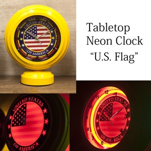 Table Clock Table Top Neon Clock American