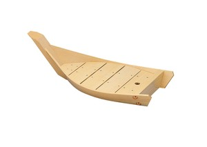 Wooden Sushi / Sashimi Serving Tray Boat Board Plate