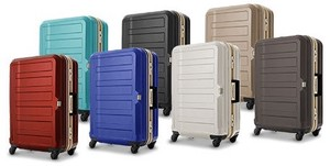 Travel Attached Emboss Processing Frame Type Carry Case 4 Colors