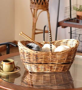 THE AROROG Handle Basket 2 type Natural Antique