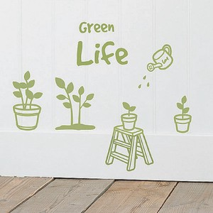 Mini Wall Stickers/ミニウォールステッカー/Green Life