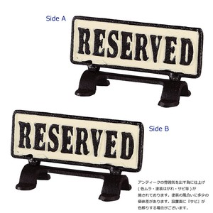 REVERSIBLE SIGN STAND RESERVED