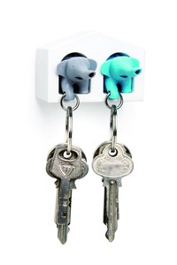 Key Ring Duo Elephant Key Ring Attached attached whistle