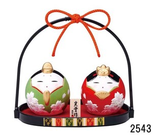★ひな祭り★「置物とインテリア」雛人形 【錦彩 わらべ桜雛】