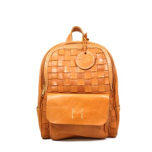Leather Mesh Backpack