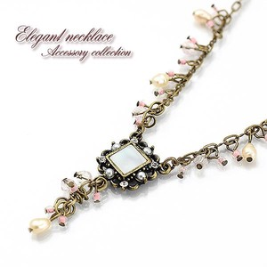 Freshwater Pearl Shell Necklace Antique Finish