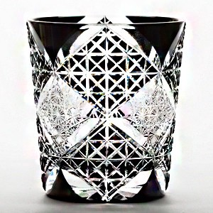 Edo-kiriko Cut Glass Old Rock Glass Distilled Spirit