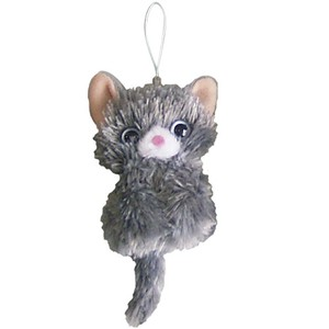 Cat Puppet Strap Gray Cat