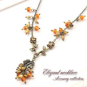 Freshwater Pearl Rhinestone Antique Necklace Elegant