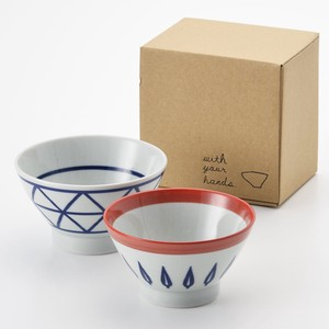 HASAMI Ware Lattice Leaf Kurawanka Bowl Set Hand Towel Craft