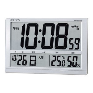 Clock Watch Digital Clock/Watch SEIKO Temperature Large Lcd Radio Waves Clock