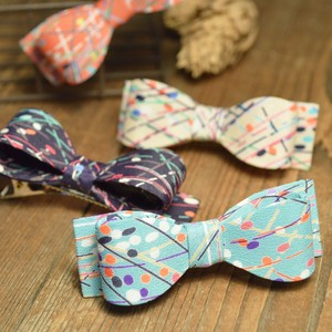 Dot Line Ribbon Clip 4 Colors Retro