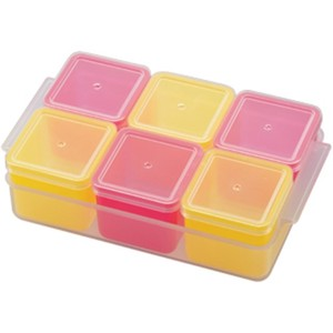 Cube Stocker Band Tray Attached Pink Yellow