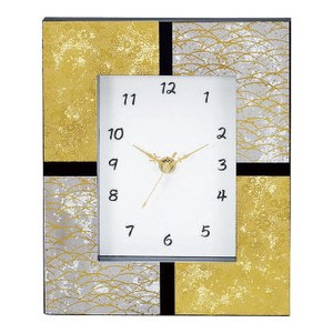 Interior Flower Vase Interior Kanazawa Gold Foil Clock/Watch Square