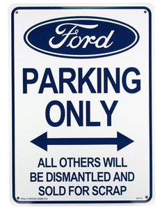 Ford Exclusive Use Plastic Board