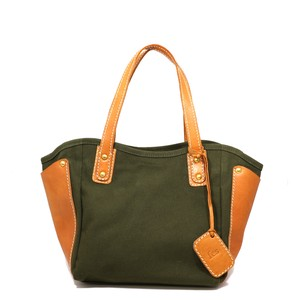 Canvas Material Leather Handbag