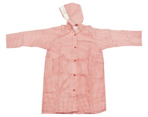 Gingham Check Girl Raincoat