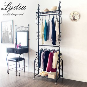 Double Clothes Hanger Rack
