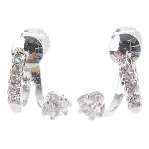 Big Zirconia Earring Stand Up Roll Glitter