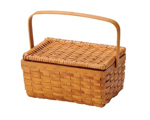 Wicker Basket Container Box Artisans Hand Knitting Natural Material Storage