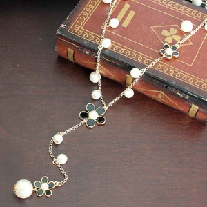 Pearl Flower Long Necklace