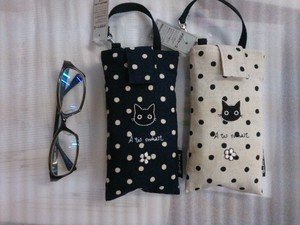 Cat Dot Cat Eyeglass Case Pencil Case