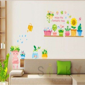 Wall Sticker Scandinavia Flower Garden Sunflower Gardening Pot Cactus