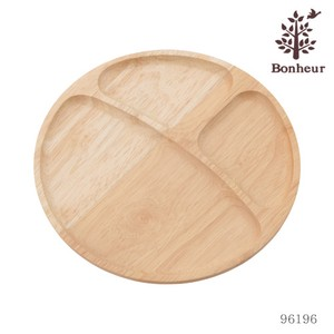 Wooden Round Dish Partition Attached