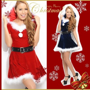 With Hood Line Santa Dress Costume Santa Cosplay