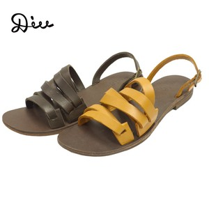 Flat Sandal Men's Genuine Leather Leather