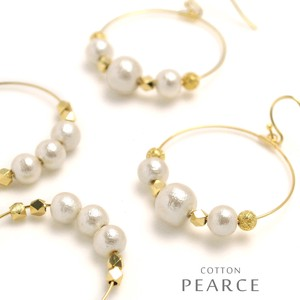 Cotton Pearl Round Hoop Pierced Earring Local Finish Standard