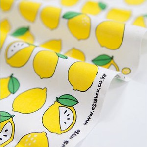 Fabric Cotton Fruit Lemon Design Fabric Unit Cut Sales