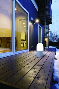 Outdoors Sensor Light Stand Type Round shape