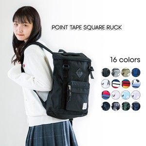 Point Tape Square Backpack Nylon Unisex