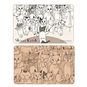 Cat Orchestra 2 Pcs Card SEAL