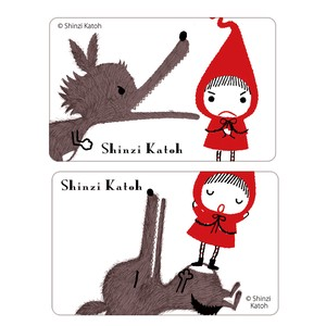 Little Red Riding-Hood Chong 2 Pcs Card SEAL