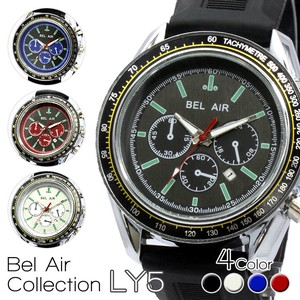 【Bel Air collection】カレンダー機能付き スタイリッシュ メンズ腕時計 LY5