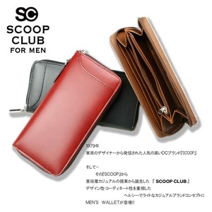 Club smooth Round Long Wallet