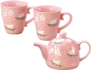 Pink Rabbit Pot Cup Set