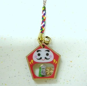 Passed Daruma Cell Phone Charm