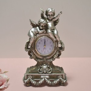 Angel Table Clock Silver