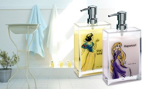 Disney Series Square Soap Dispenser Elsa / Cinderella / Rapunzel