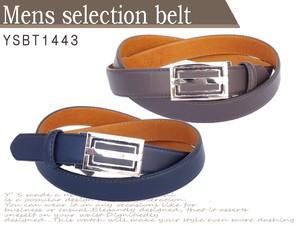 Men's Business Men's Belt Cow Leather Design Buckle One touch Full Length