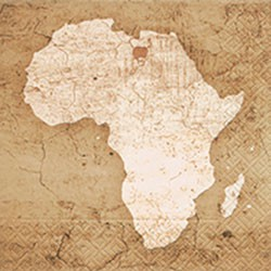 Paper Paper Napkin Africa Map