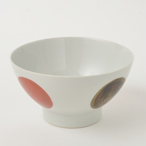 Donburi Bowl Red Circle HASAMI Ware 400g