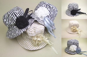 Corsage Attached Stripe Hat Event Kids