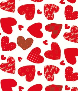 Wrapper Heart Applique Half Sheet