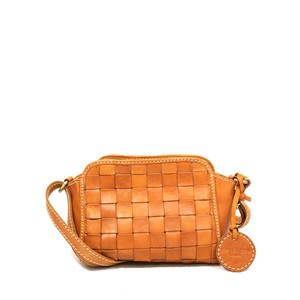 Leather Mesh Shoulder Bag
